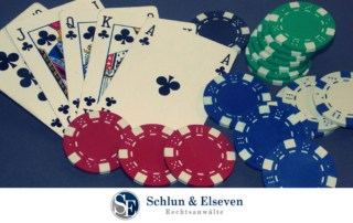 Cards, poker chips, casino, online gambling in Germany